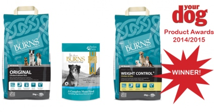 Burns Wins Your Dog Magazine Product Awards In All 3 Dog Food Categories